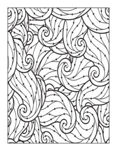 Beautiful Swirls & Dots: 8.5″ x 11″