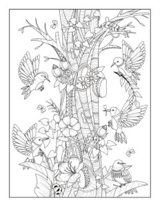 Birds in a Tree: 8.5″ x 11″