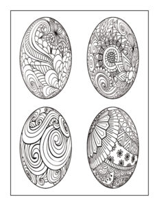 Decorative Eggs: 8.5″ x 11″