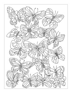 Flocking Butterflies: 8.5″ x 11″