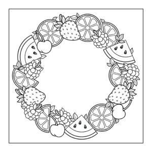 Fruit Wreath: 8.5″ x 8.5″