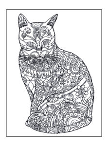 Decorative Cat: 8.5″ x 11″